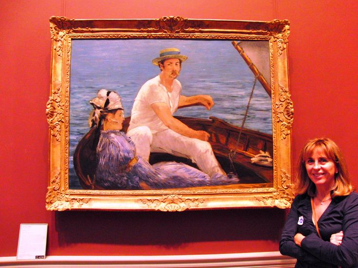 Édouard Manet, French, 1832-1883, Boating, 1874, Oil on Canvas