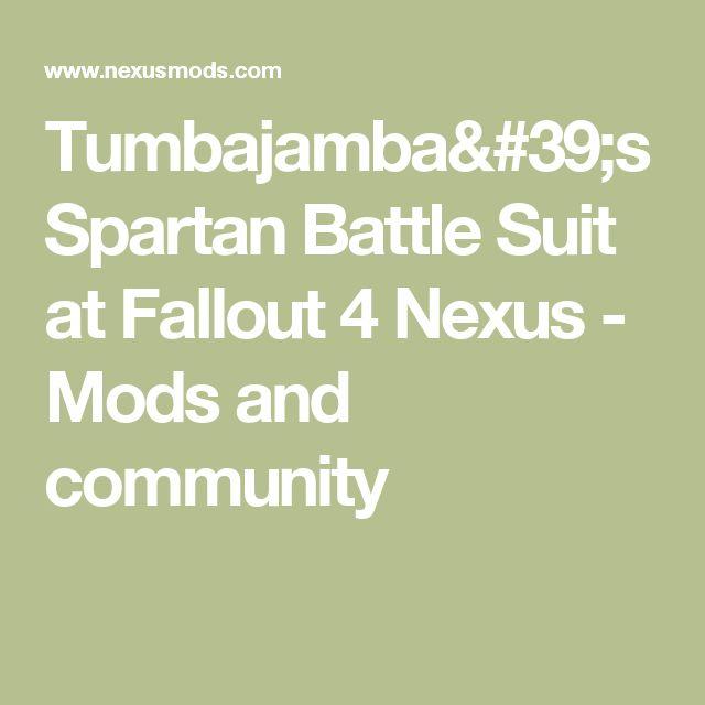 Tumbajamba's Spartan Battle Suit at Fallout 4 Nexus - Mods and community