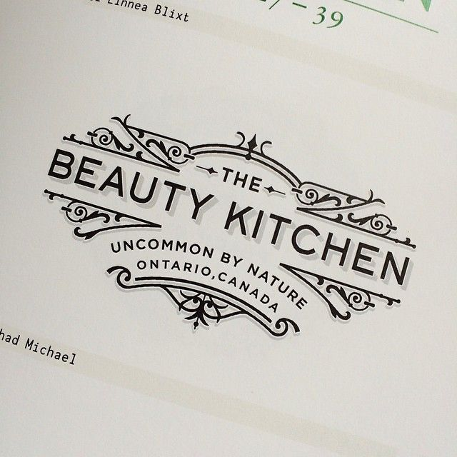 Chadmichaelstudio The Beauty Kitchen Logo In Gestalten Publishers Los Logos 7 Book Clie Typography Design Inspiration Graphic Design Logo Typography Logo
