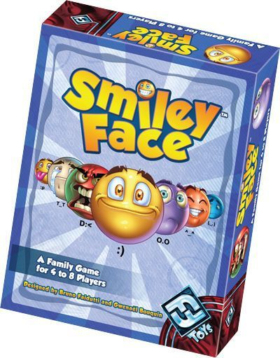 """SmileyFace is a card game of face-to-face family fun for four to eight players.  Over the seven short rounds of the game, each player tries to collect the highest total face value of cards of a single type. Each round brings new surprises as the values of cards change and the wacky Mischief cards come into play. Only the player with the highest score for a round (and perhaps the player who lent him a helping hand) will win points!  """"A King's Life"""": Intriguingly the desig..."""