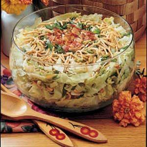 Crunchy Tossed Salad Recipe | Taste of Home Recipes