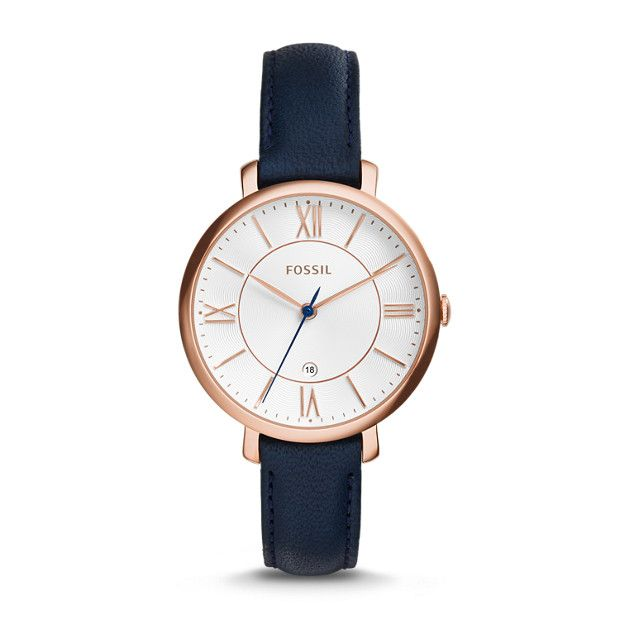 A flawless essential, our refined Jacqueline puts a sophisticated spin on a ladylike classic. Its signature steel case couples with an easy-to-wear leather strap in this (elegantly) essential design.For a cool take on a classic style, we've updated Jacqueline with a slimmer, more refined case design.