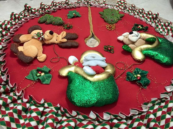 Pie de árbol navideño