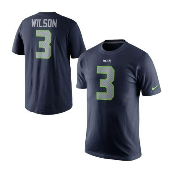 シーホークス #3 ラッセル・ウィルソン Player Pride Name & Number Tシャツ (カレッジネイビー) Nike【アメフト】
