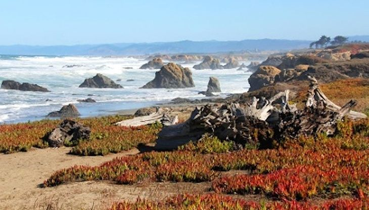 Visit Fort Bragg California -- review of things to do, places to go, best hotel deals, Sea Glass Beach, bike the beach trail, Skunk Train ...