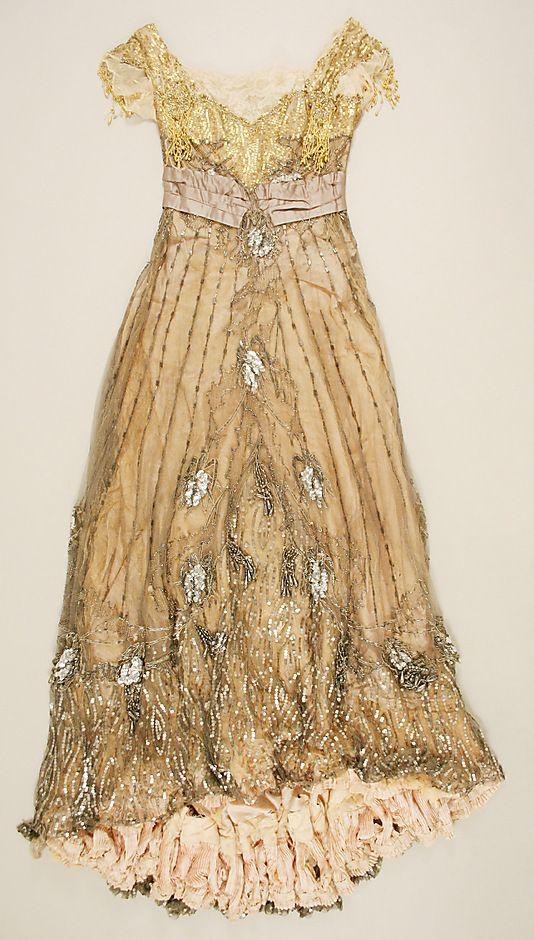 Dress, Evening  Jacques Doucet  (French, Paris 1853–1929 Paris)  Date: 1907–8