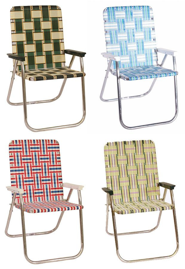 Classic American Lawn Chairs. Either this kind of lawn chair or the metal ones.
