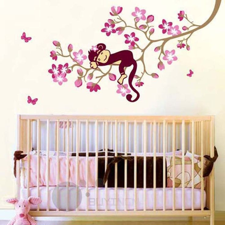 Vinyl wall decals stickers nature animal chinstudio pvc for Baby mural stickers