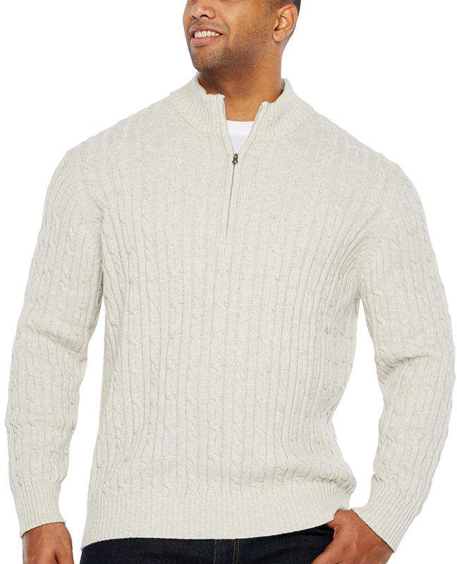 a24dc89b53d Izod Collar Neck Long Sleeve Pullover Sweater - Big and Tall ...
