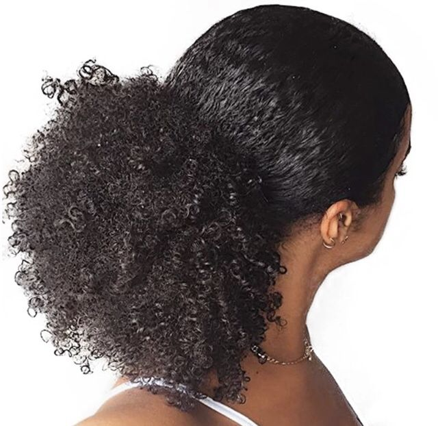 Simple Easy Ponytail Natural Hair Styles Curly Hair Styles Naturally Curly Hair Styles
