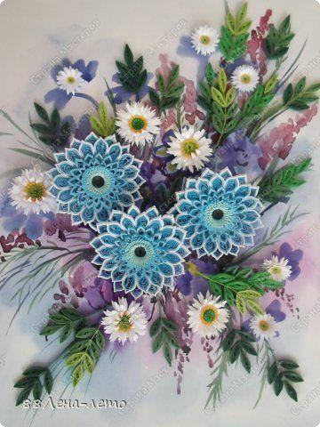 Картина панно рисунок 8 марта День матери День рождения Квиллинг Весна Акварель Бумага фото 1