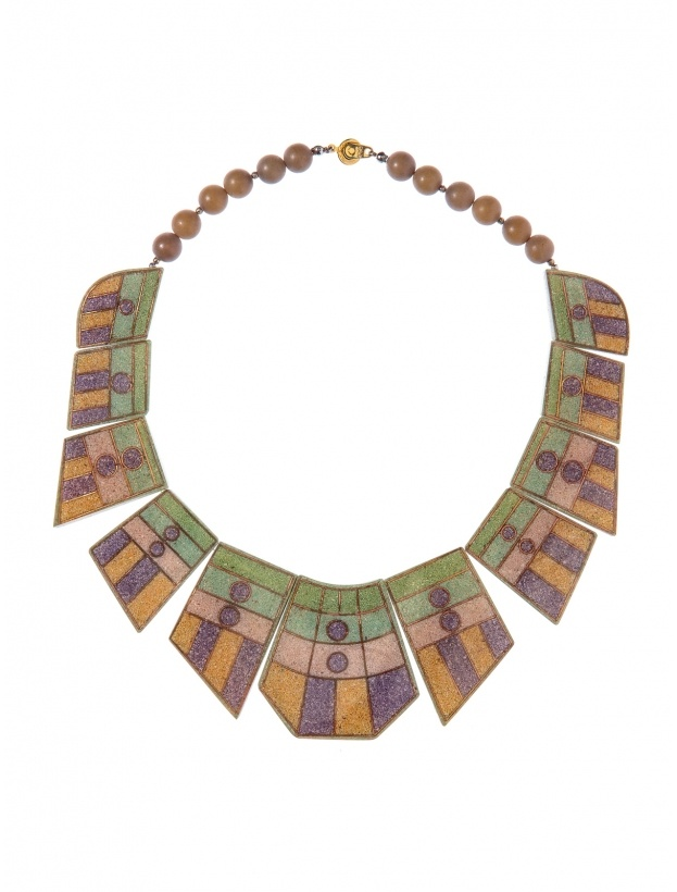 R29 Shops: Vintage by Misty Geo inlayed mod bib necklace. Instant conversation starter!