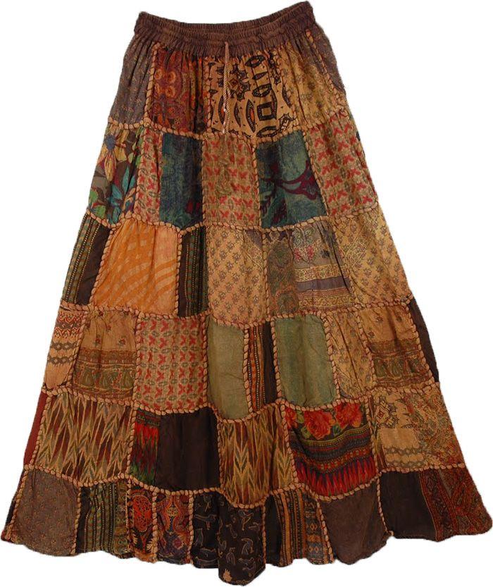 Paarl Panel Boho Skirt - I totally want a patchwork Bohemian skirt!