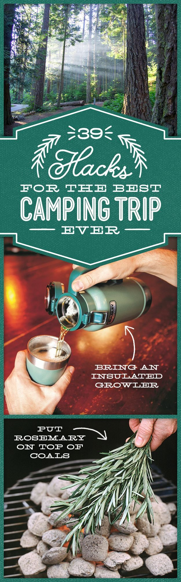 "Some useful camp hacks for the more ""chill"" outings with your crew. Just remember: pack it out!"