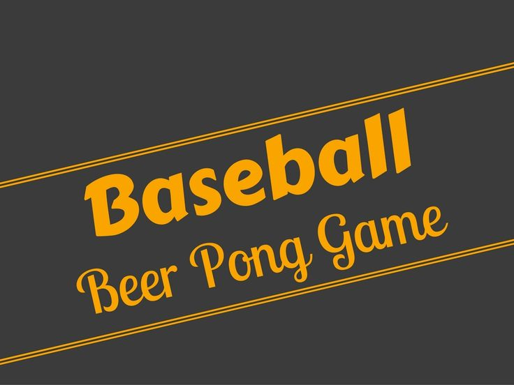 Baseball Beer Pong Gameplay, Equipment, Setup, And Rules is one hell of a drinking game and is sure to be the crowd favorite at your next get together.
