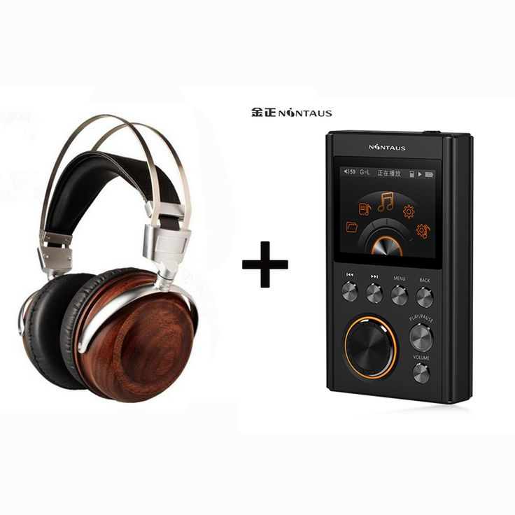 Blon B6 HiFi Wooden Metal Headband Headphone Headset + NiNTAUS X10 DSD64 24Bit/192Khz HiFi Lossless Music Mp3 Player set