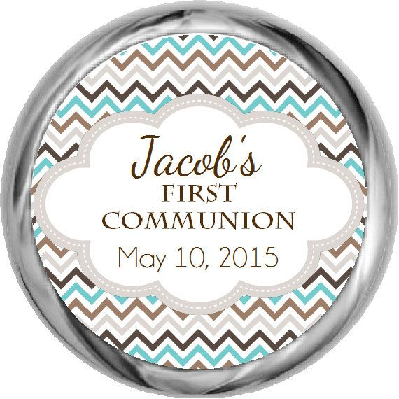 First Communion Stickers  Boys Holy Communion by FabPartyPrints