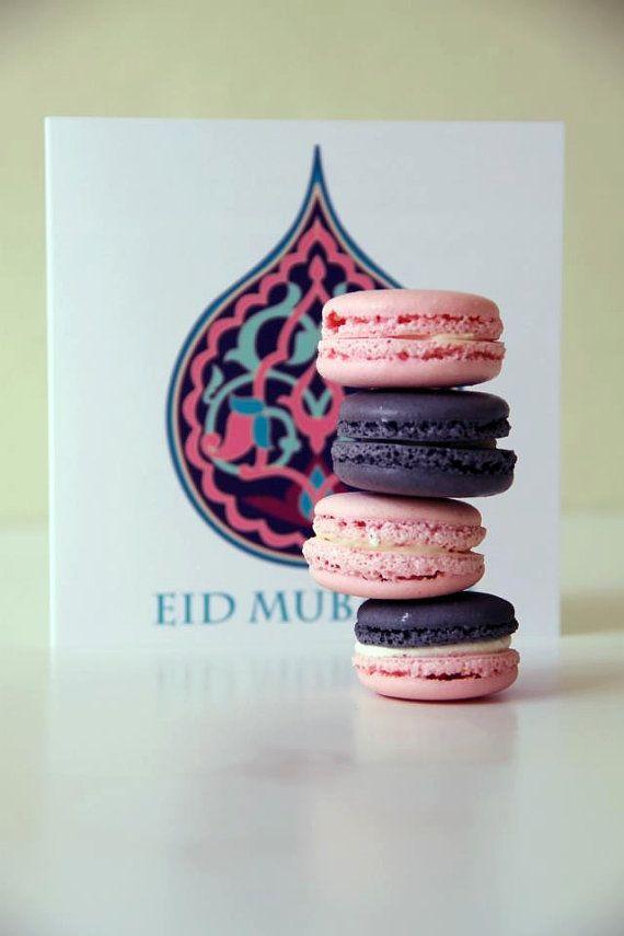Eid greeting cards/ Eid macaron gift pack/ Eid/ Eid cards/ Eid macaron set