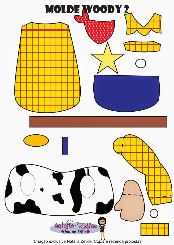 Natália Zelice Artes em Feltro: Moldes Woody Toy Story