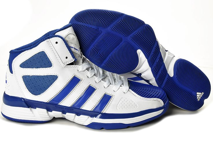 adidas basketball shoes white and blue