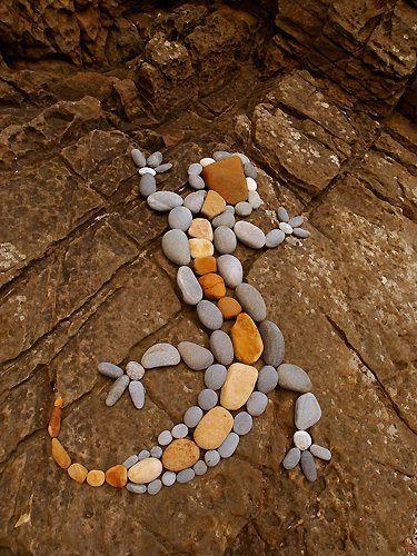 Fuguras con piedras