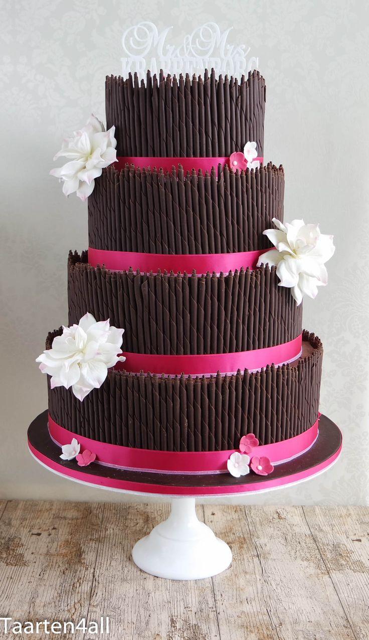 Bruidstaart met heel veel chocolade