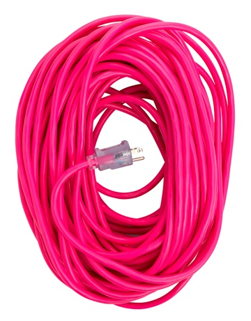 pink extension cord: Extension Cords, Things Pink, Neon Exten, Coleman Cable, Exten Cords, Hot Pink, Color Exten, Pink Extensions, Extensions Cords