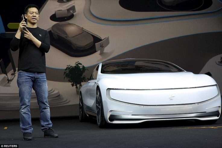 LeEco CEO Jia Yueting unveils the LeSee & goes on to show the car's impressive self driving & self parking facilities using voice commands via a mobile app.