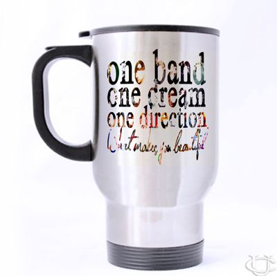 One Band, One dream, One direction Travel Mug cheap and best quality. *100% money back guarantee