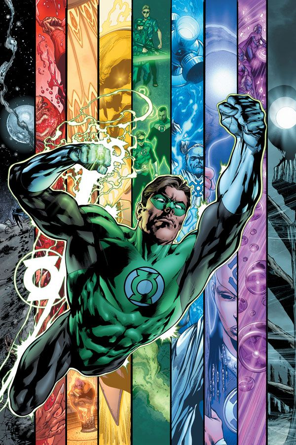 GREEN LANTERN - BLACKEST NIGHT. My favorite is the Blue Corps. Hope leads the way.  #GreenLantern #hope