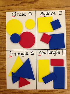 Sorting Shapes Sheet - this helps children to begin to understand how to sort in more than two categories