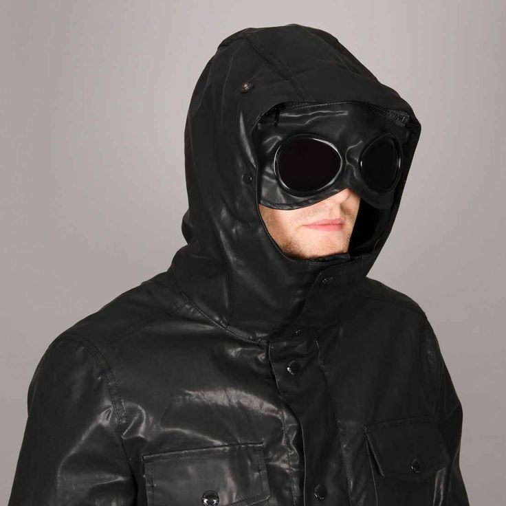 C.P. Company Rubberised Goggle Jacket - Black - Available at Aphrodite Clothing