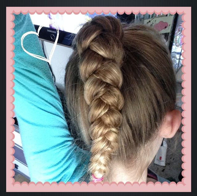 a ponytail with braid
