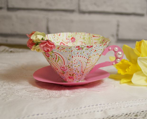 Handmade 3D Paper Tea Cup Tutorial - Trimcraft