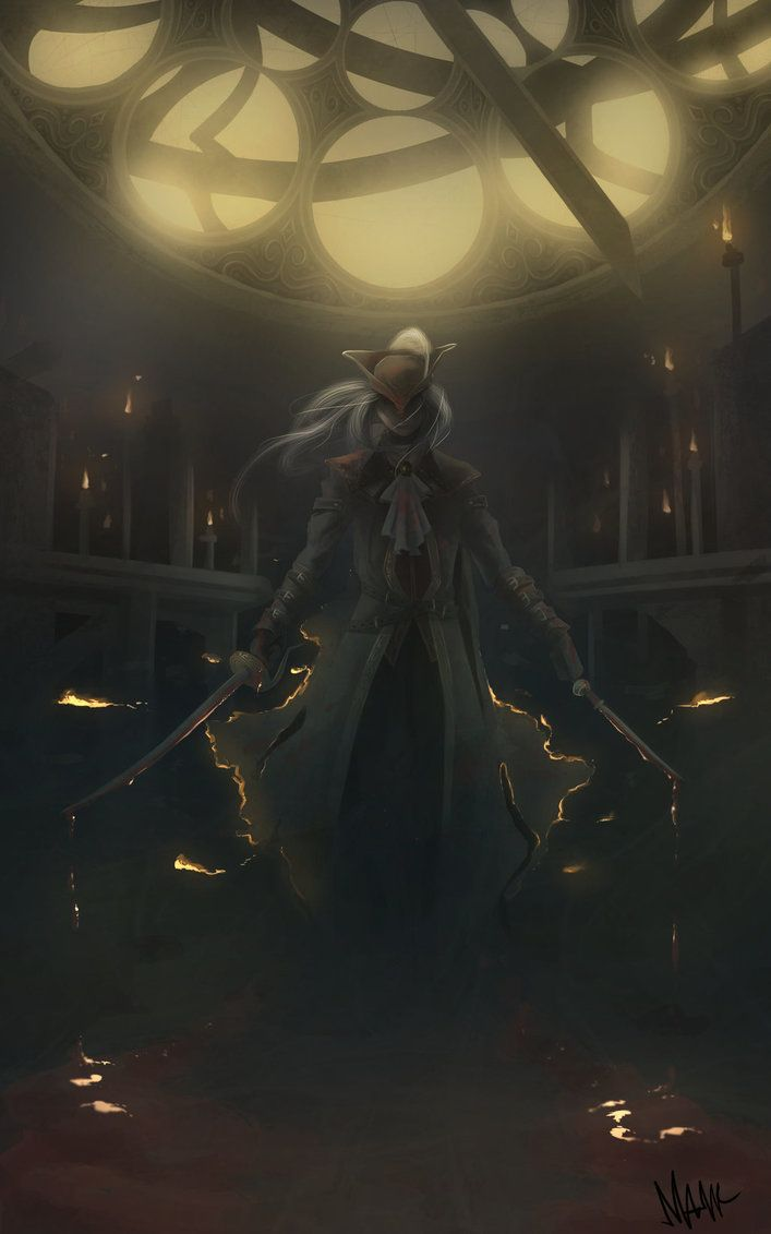Bloodborne Lady Maria Astral Clocktower Giclee Poster Print Art 24 x 16 Numbered