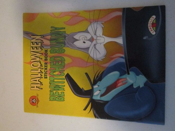 Bugs Bunny Bewitched Bunny Halloween Sticker Book Landoll's 1997 coloring