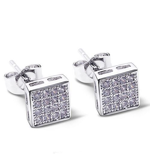 Square Shape Elegant Stud Earrings