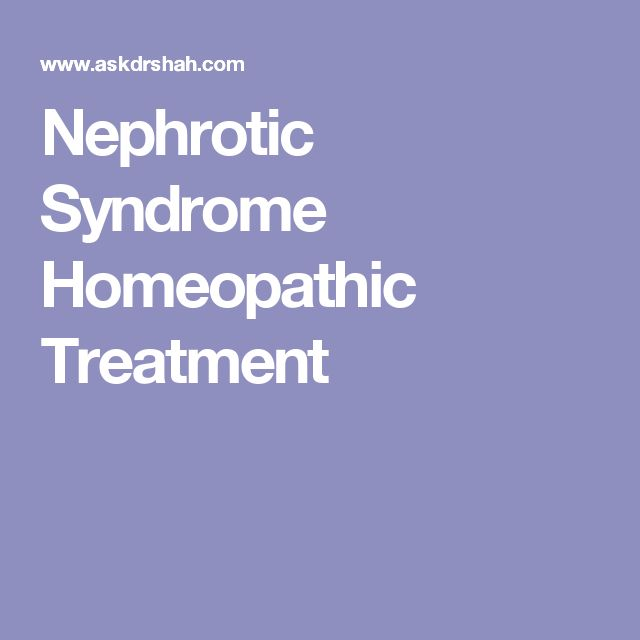Nephrotic Syndrome Homeopathic Treatment