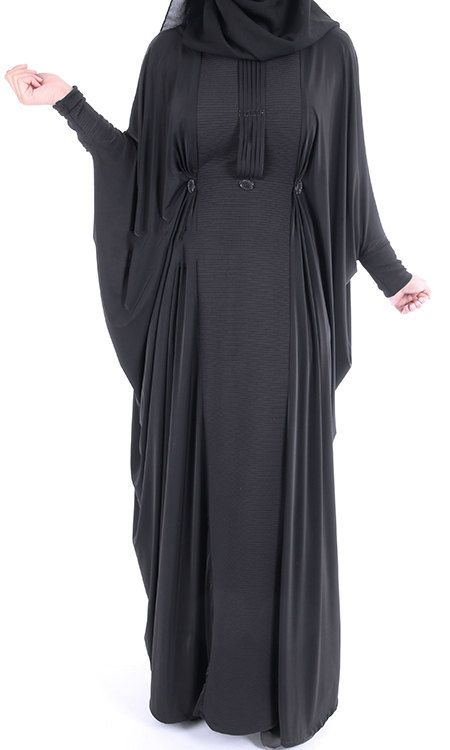 Trendy Black Abaya Dress by ShopIslam on Etsy
