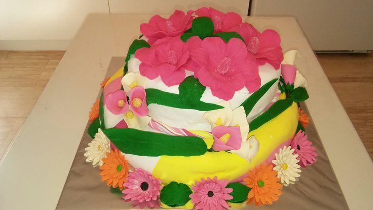 Patronumun 71. doğum günü için yaptığım pasta