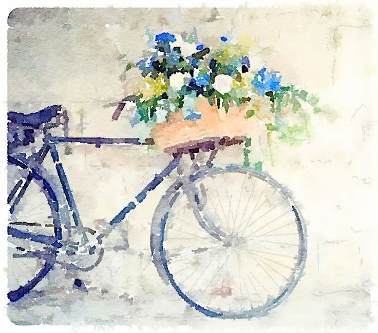 Bicycle, painted in #Waterlogue