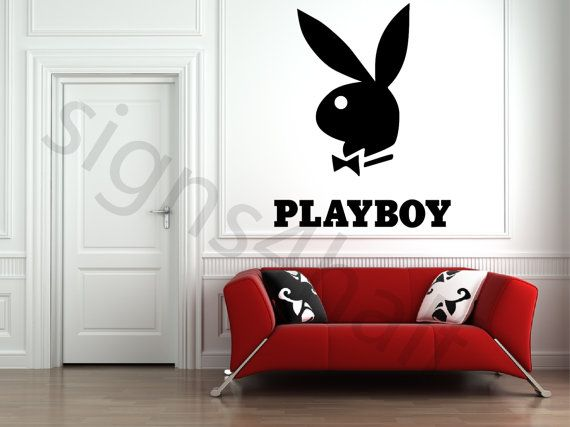 Playboy Logo Removable Wall Art Decor Decal Mural by Signs4Half, $12.99