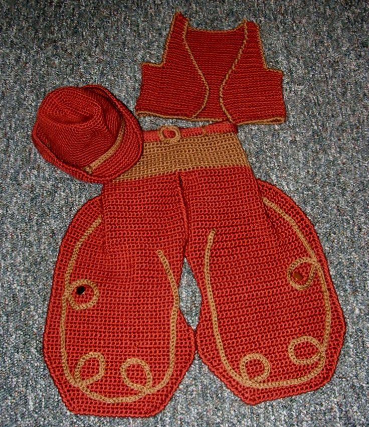 Crochet Baby Waistcoat Pattern : Big Buckaroo-Crochet Pattern Crochet baby, Sweater ...