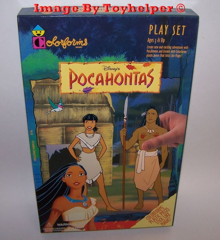 Disney Pocahontas Colorforms Adventure Play Set Unused Vintage #Colorforms