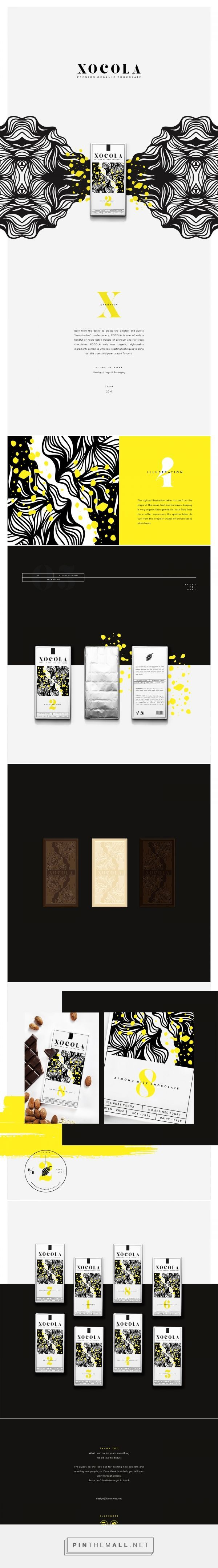 XOCOLA Organic Chocolate Packaging by Kimmy Lee