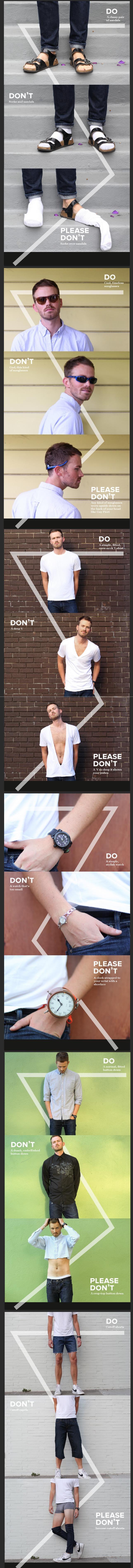 Do, Don't, Please Don't: Men Addition ;D