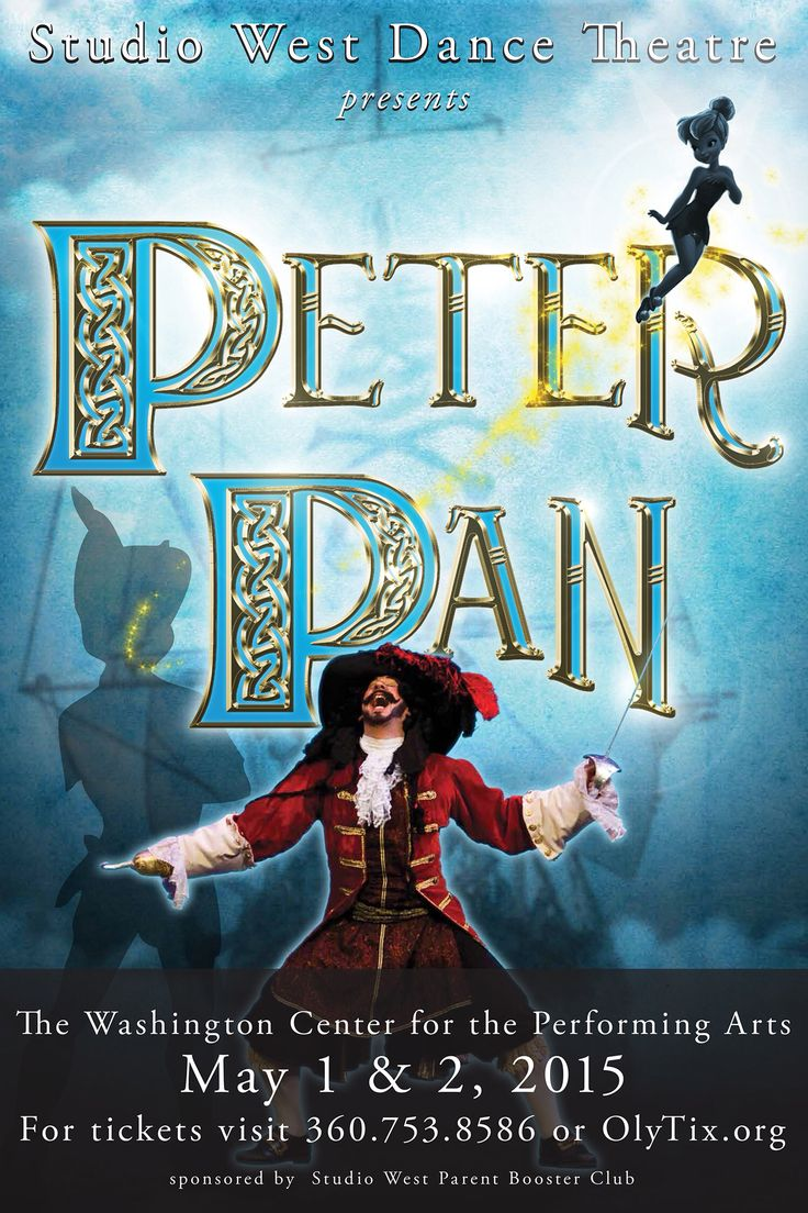 Fun project creating poster and promo materials for #peterpan #studiowestdance #ballet #dance