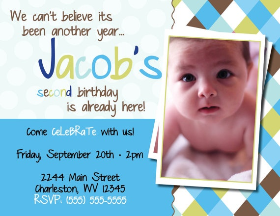 I Like The Wording On This 2nd Bday Invite