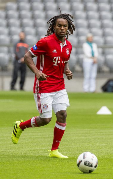 Renato Sanches of FC Bayern Munich with ball during a training session starts at Allianz Arena on August 6, 2016 in Munich, Germany.