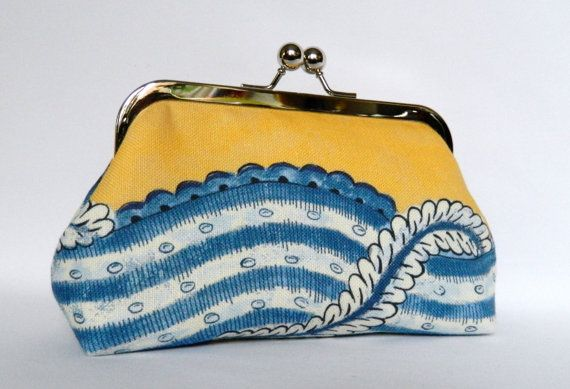 Yellow Clutch Clutch Bag Clutch PurseYellow and by TheHeartLabel